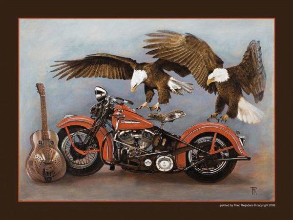 Harley met arenden